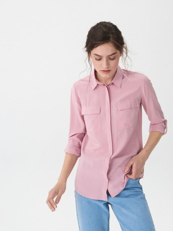 595a5872c61 ... Košile s kapsami - růžová - VD266-30X - House - 2 ...