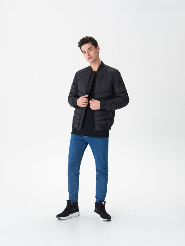 Quilted bomber jacket - black - US033-99X - House - 0