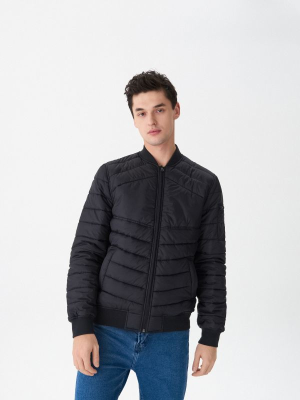 Quilted bomber jacket - black - US033-99X - House - 1