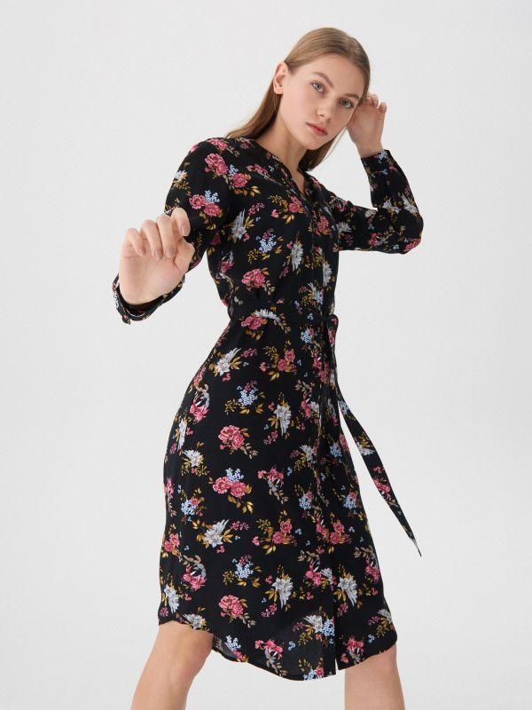 000c0a2d9e ... Virágos ruha - többszínű - WA911-MLC - House - 1 ...