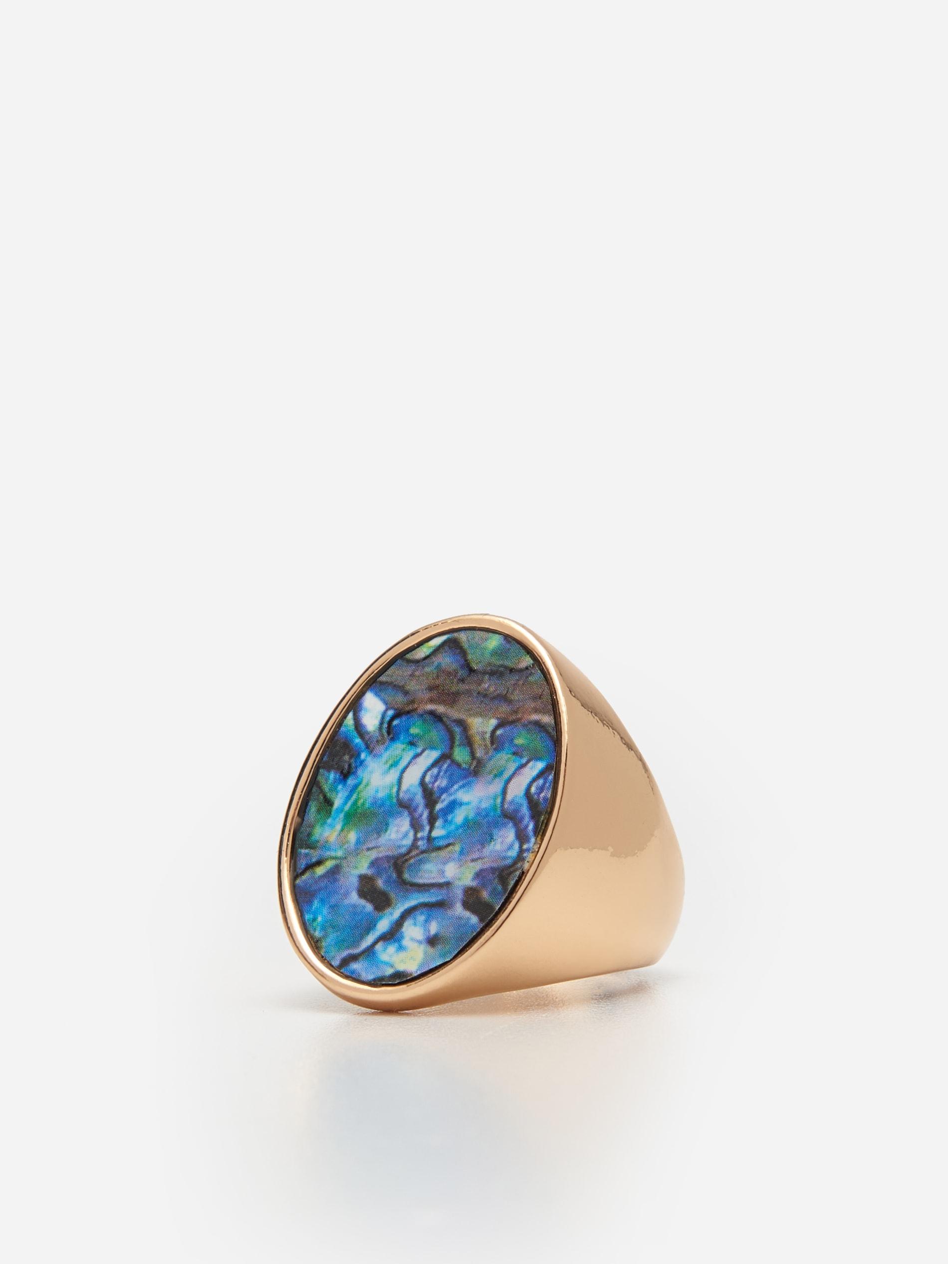 Veľký prsteň s kameňom - viacfarebná - 6735E-MLC - HOUSE - 1