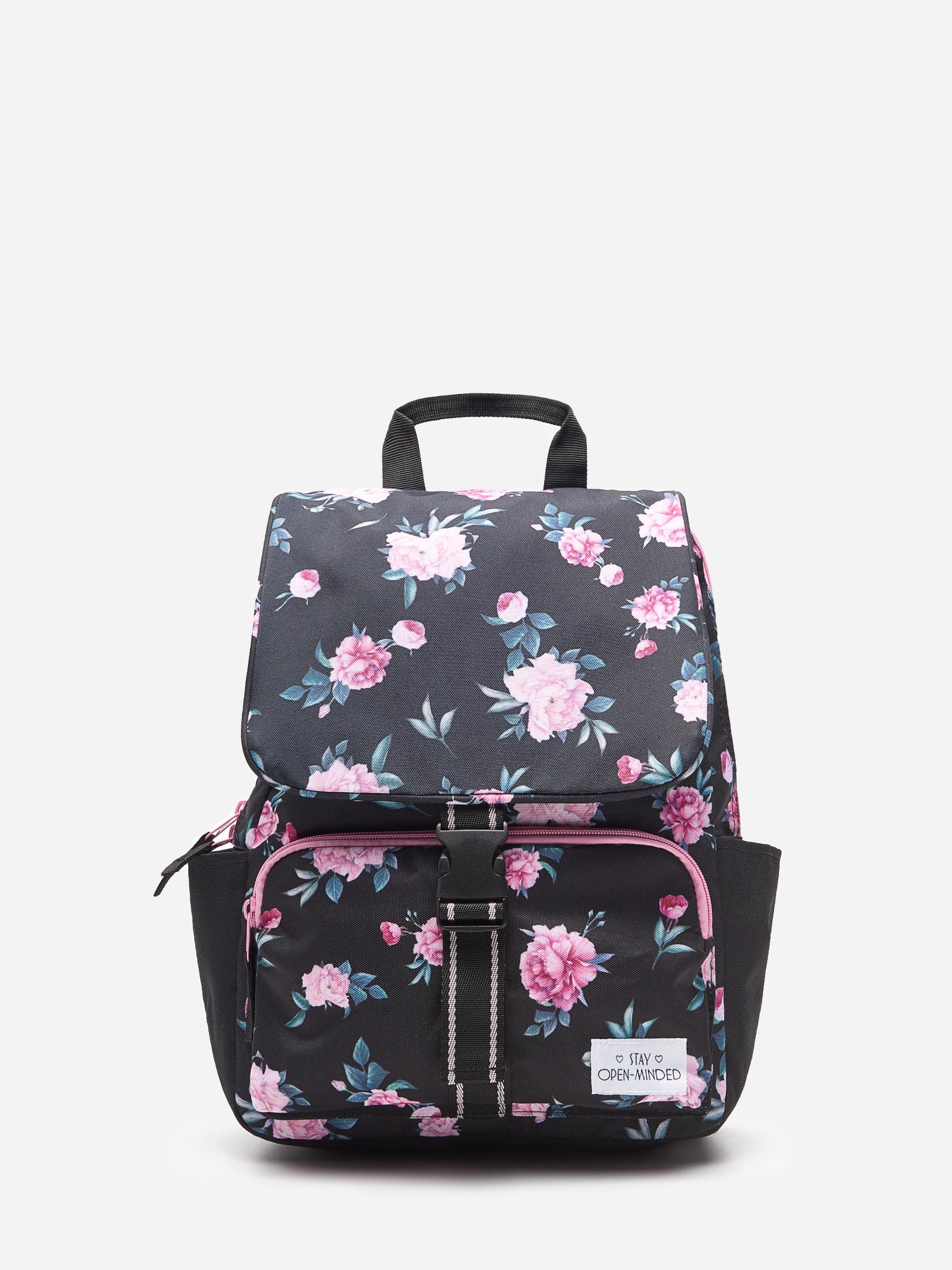 Plecak w kwiaty - wielobarwny - WE747-MLC - HOUSE - 1