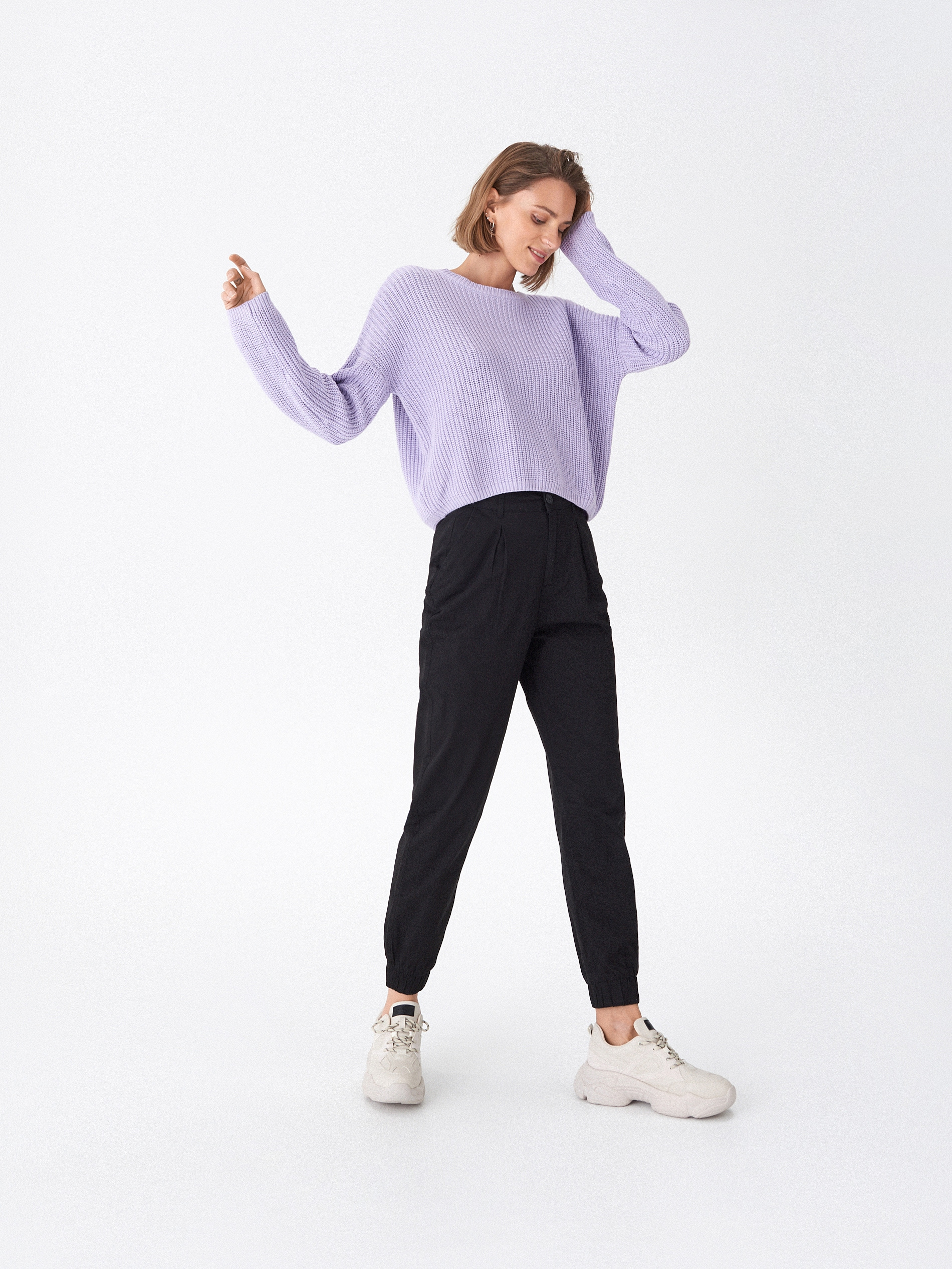 Sweter oversize - fioletowy - WQ371-04X - HOUSE - 2