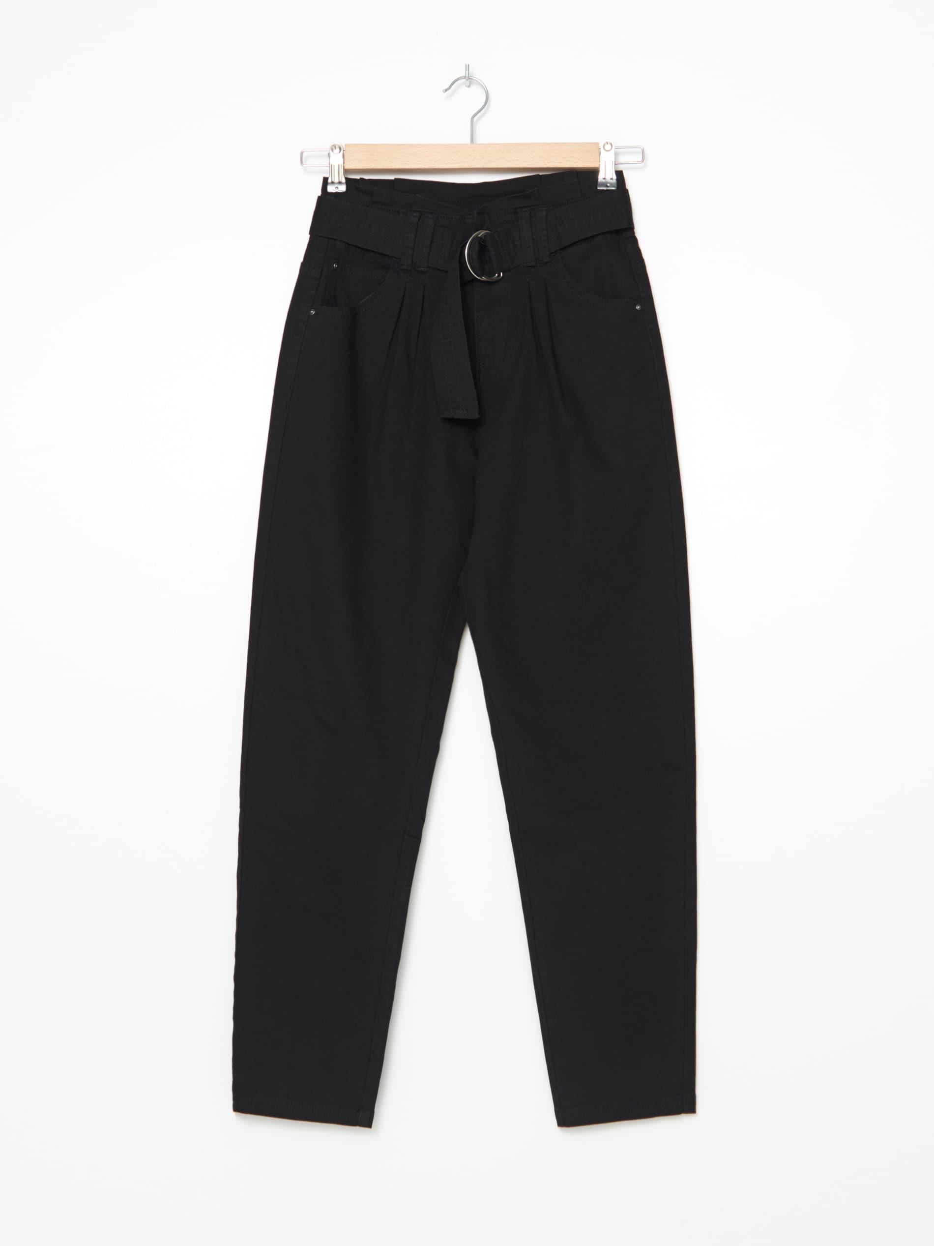 Nohavice s vysokým pásom a opaskom - čierna - ZM812-99X - HOUSE - 1