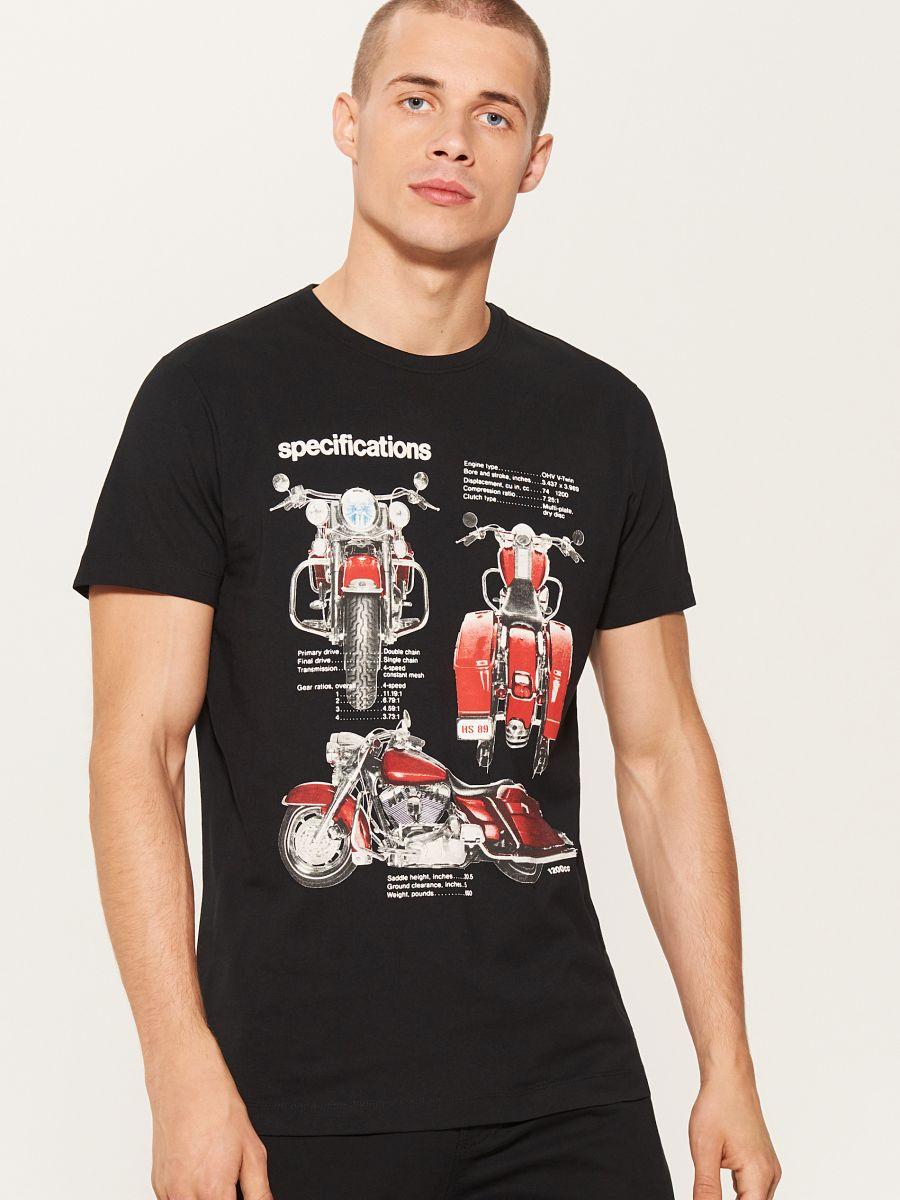 14d6b9459a73 Tričko s potlačou s motívom motorky