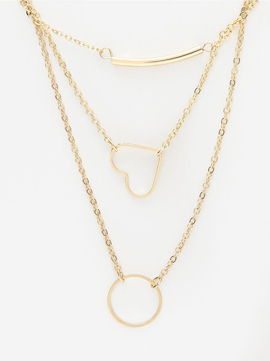 bd908864a Viacvrstvový náhrdelník s príveskami, HOUSE, VG706-GLD