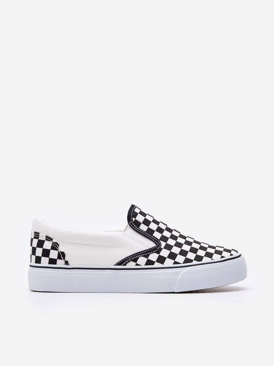 Patterned tennis trainers, HOUSE, YA051-MLC