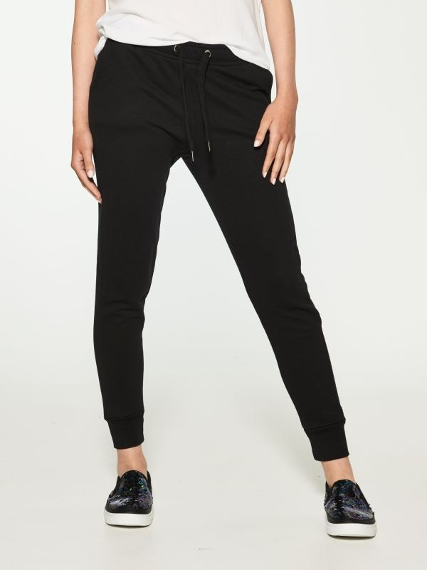 Dresowe spodnie typu jogger - czarny - SI039-99X - House - 0