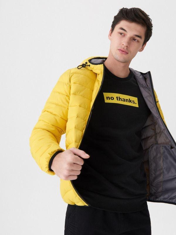 9fd573a3951a8 Pikowany płaszcz bomber · Pikowana kurtka basic - żółty - US023-11X - HOUSE