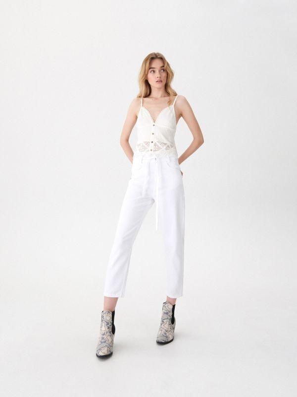 b0091b4a7beb Rifle high waist skinny · Mom jeans - biela - UV668-00J - HOUSE