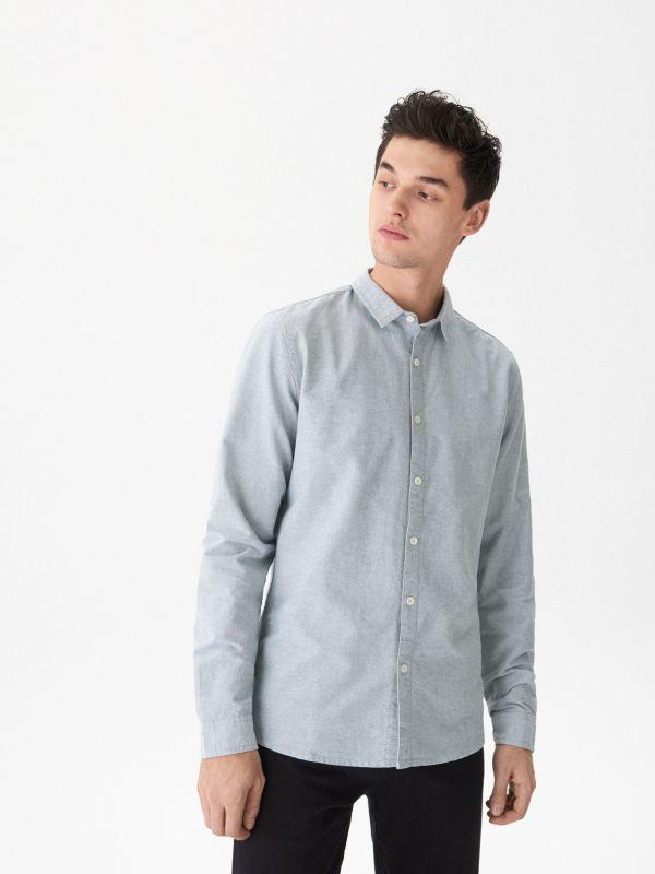 82267b107be Рубашка в клетку · Рубашка из хлопка оксфорд - Бирюзовый - VB831-65X - HOUSE