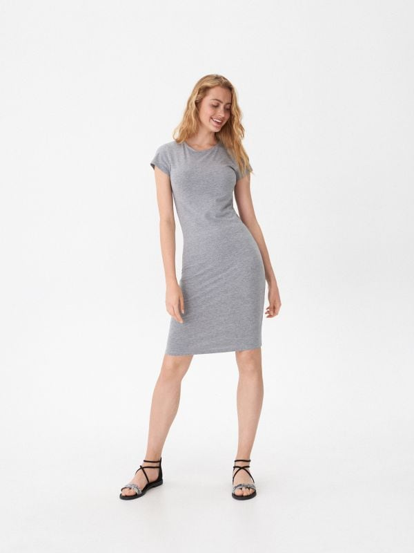 f0c9984aa1 Ażurowa sukienka · Sukienka basic - jasny szary - VD173-09M - HOUSE