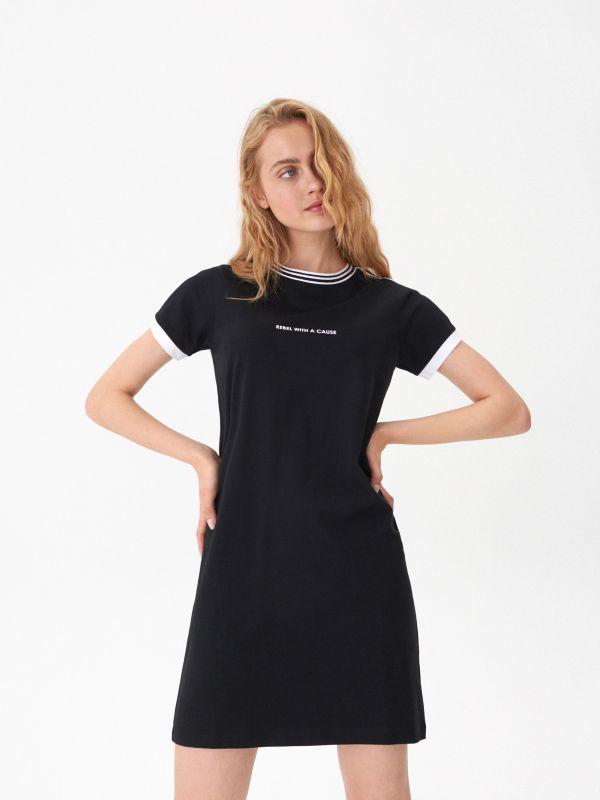 2588808070 Sukienka w paski · Sportowa sukienka - czarny - VI968-99X - HOUSE