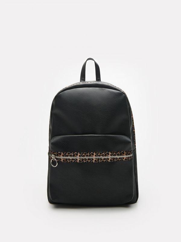 5d62e9110b9b Állatmintás bevásárlótáska · Párducos hátizsák érdekes részletekkel -  fekete - VM915-99X - HOUSE