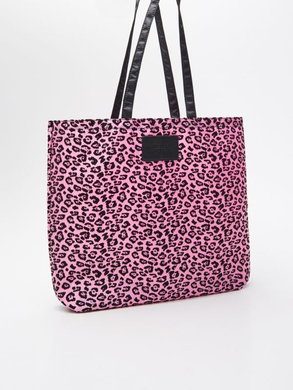 df66dce4055c Fonott táska kerek fogantyúval · Állatmintás bevásárlótáska - rózsaszín -  VM992-42X - HOUSE