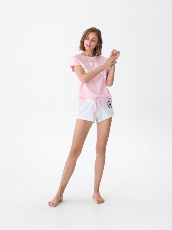 d2659893aeb1 LADIES` PYJAMA · Pyžamo s potlačou - ružová - VP748-03X - HOUSE