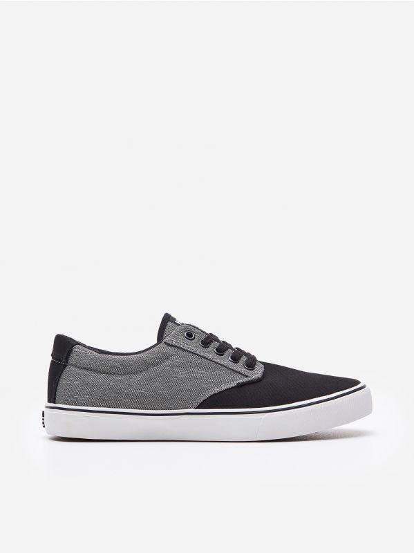 545f8fc2 Kolorowe sneakersy · Sznurowane tenisówki - czarny - WN718-99X - HOUSE