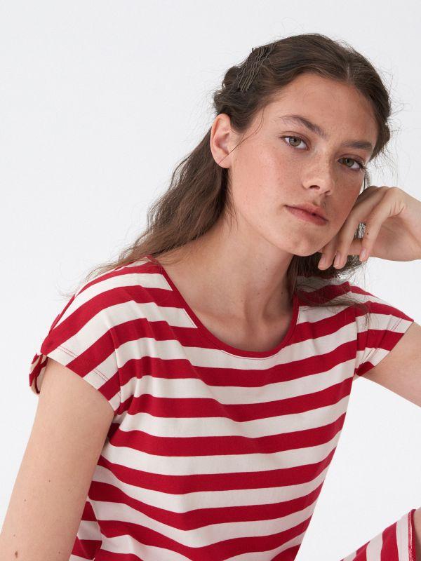 278dc5c065 5 Sukienka wiązana w talii - striped - WV384-ST1 - HOUSE
