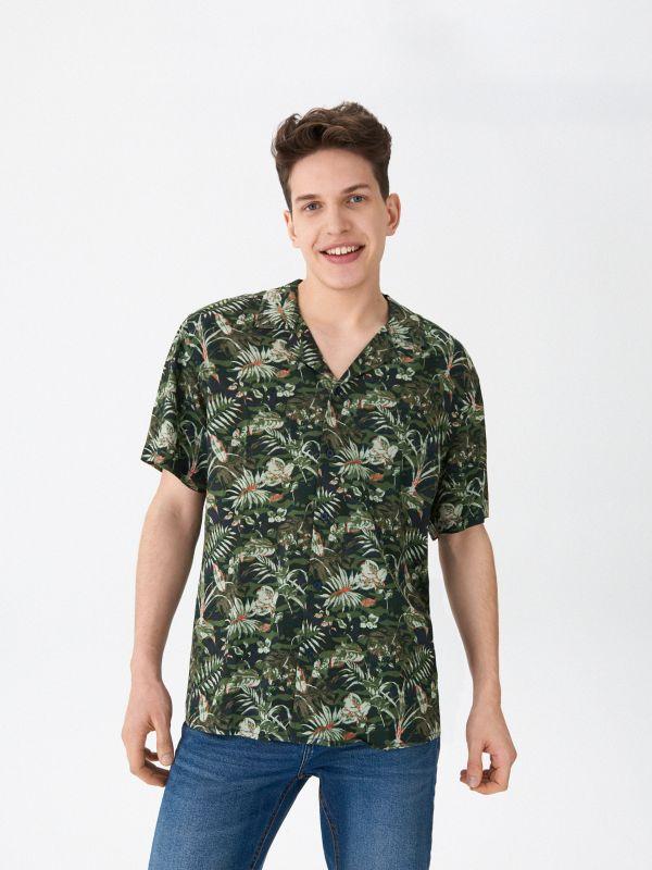9ed6678024f15b Koszula w mikrowzór · Wzorzysta koszula - wielobarwny - WW480-MLC - HOUSE