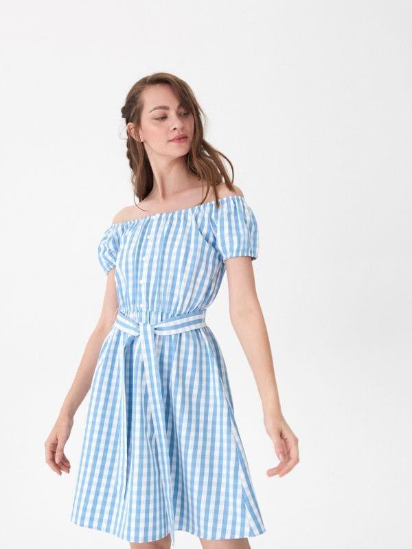 ecd8f450c25 Платье в узоры · Платье в клетку виши - Многоцветный - XD097-MLC - HOUSE