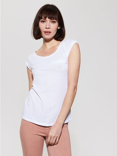 Gładki t-shirt - biały - SR518-00X - House