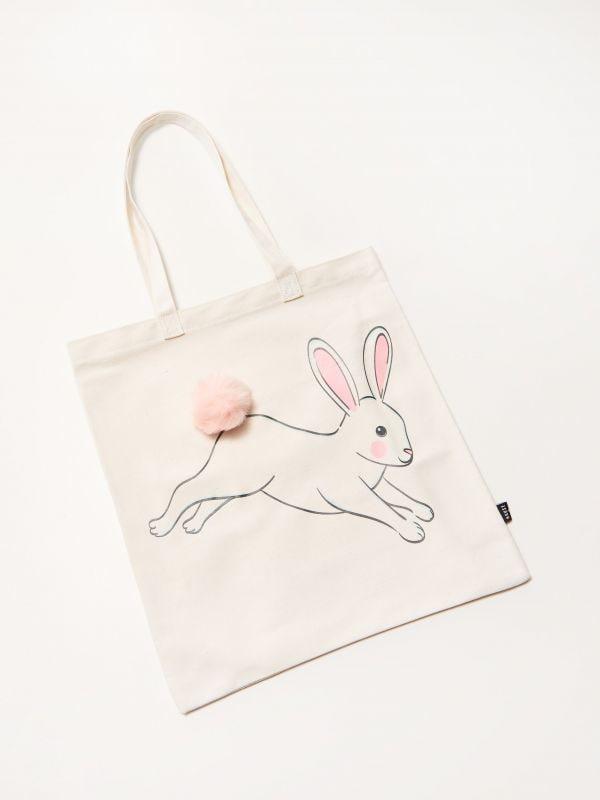 a36edb0ccf96a Materiałowa torba na ramię z królikiem - wielobarwny - RQ803-MLC - House - 0