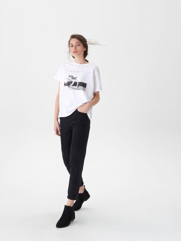 T-shirt z nadrukiem Freddie - biały - VT444-00X - House - 1