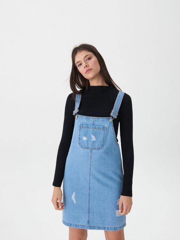 6f982b885b9e ... Džínsové šaty na traky - modrá - VQ979-05J - House - 4